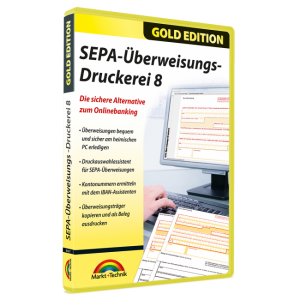 SEPA-Überweisungs-Druckerei 8: Software zum Ausfüllen von Überweisungsträger